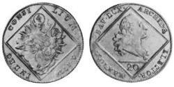 20 Kreuzer Electorate of Bavaria (1623 - 1806) 銀 Maximilian III Joseph, Elector of Bavaria (1727 – 1777)