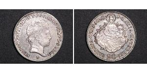 20 Kreuzer Royaume de Hongrie (1000-1918) Argent Ferdinand I of Austria (1793 - 1875)