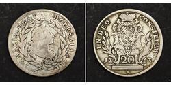 20 Kreuzer Elettorato di Baviera (1623 - 1806) Argento Massimiliano III di Baviera(1727 – 1777)