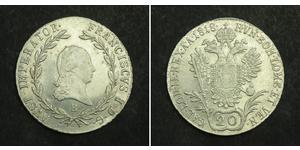 20 Kreuzer Impero austriaco (1804-1867) Argento