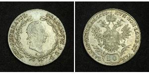 20 Kreuzer Impero austriaco (1804-1867) Argento Francis II, Holy Roman Emperor (1768 - 1835)