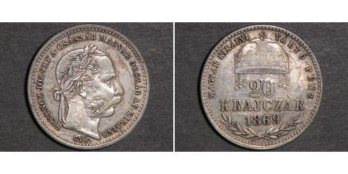 20 Kreuzer Impero austro-ungarico (1867-1918) Argento Franz Joseph I (1830 - 1916)
