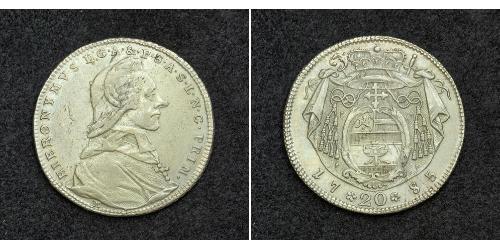 20 Kreuzer Salisburgo Argento Hieronymus von Colloredo (1732 - 1812)