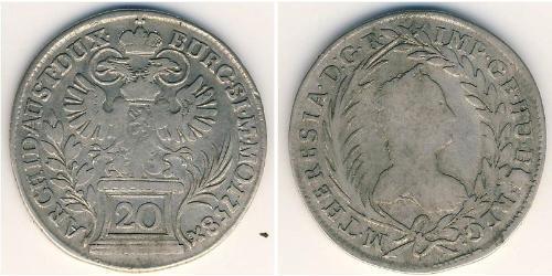 20 Kreuzer Austria Plata