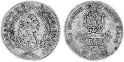 20 Kreuzer Principado de Ansbach (1398–1792) Plata Charles Alexander, Margrave of Brandenburg-Ansbach (1736 – 1806)