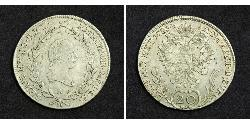 20 Kreuzer Sacro Imperio Romano (962-1806) Plata Francis II, Holy Roman Emperor (1768 - 1835)