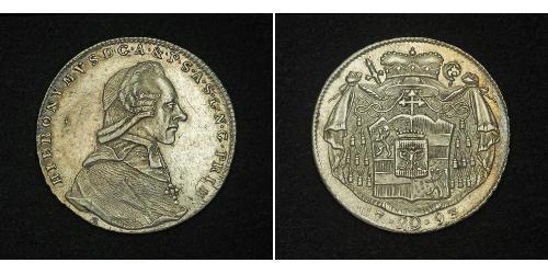 20 Kreuzer Salzburgo Plata Hieronymus von Colloredo (1732 - 1812)