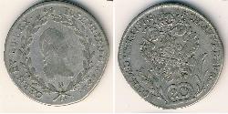 20 Kreuzer Österreich Silber