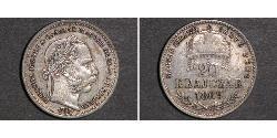 20 Kreuzer Österreich-Ungarn (1867-1918) Silber Franz Joseph I (1830 - 1916)