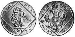 20 Kreuzer Fürstentum Ansbach (1398–1792) Silber Karl Alexander (Brandenburg-Ansbach-Bayreuth)(1736 – 1806)