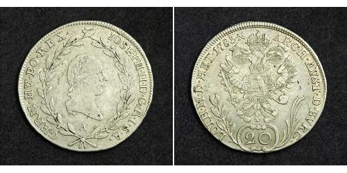 20 Kreuzer Heiliges Römisches Reich (962-1806) Silber Francis II, Holy Roman Emperor (1768 - 1835)