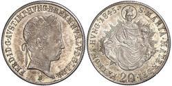20 Kreuzer Kaisertum Österreich (1804-1867) Silber Ferdinand I of Austria (1793 - 1875)