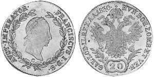 20 Kreuzer Kaisertum Österreich (1804-1867) Silber Francis II, Holy Roman Emperor (1768 - 1835)