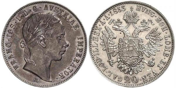 20 Kreuzer Kaisertum Österreich (1804-1867) Silber