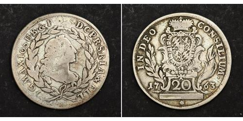 20 Kreuzer Kurfürstentum Bayern (1623 - 1806) Silber Maximilian III. Joseph (Bayern)(1727 – 1777)