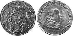 20 Kreuzer Markgrafschaft Baden-Durlach (1535 - 1771) Silber