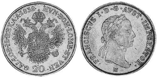 20 Kreuzer Austrian Empire (1804-1867) Silver