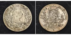 20 Kreuzer Electorate of Bavaria (1623 - 1806) Silver Maximilian III Joseph, Elector of Bavaria (1727 – 1777)
