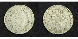 20 Kreuzer Holy Roman Empire (962-1806) Silver Francis II, Holy Roman Emperor (1768 - 1835)