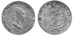 20 Kreuzer Kingdom of Bavaria (1806 - 1918) Silver