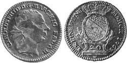 20 Kreuzer Margrave of Baden-Durlach (1535 - 1771) Silver