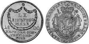 20 Kreuzer Prince-Bishopric of Bamberg (1245–1802) Silver