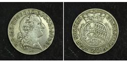 20 Kreuzer States of Germany Silver Charles Theodore, Elector of Bavaria (1724 - 1799)