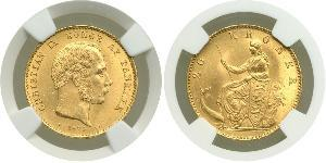 20 Krone 丹麦 金 克里斯蒂安九世 (1818-1906)