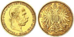 20 Krone 奥匈帝国 (1867 - 1918) 金 弗朗茨·约瑟夫一世 (1830 - 1916)