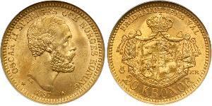 20 Krone 瑞典 金 奧斯卡二世 (1829-1907)