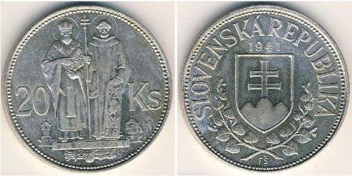 20 Krone Slovakia 銀