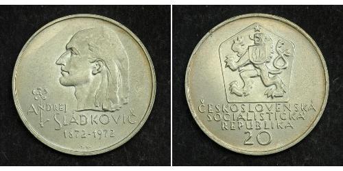 20 Krone Tchécoslovaquie  (1918-1992) Argent Andrej Sládkovič
