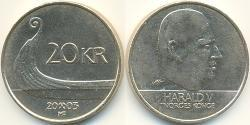 20 Krone Norway Brass