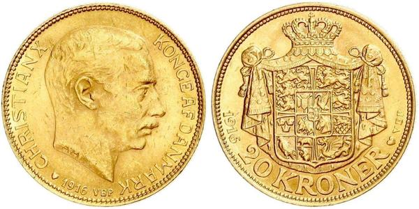 20 Krone Denmark Gold Christian X of Denmark (1870 - 1947)