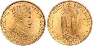 20 Krone Kingdom of Norway (1905 - ) Gold Haakon VII of Norway (1872 - 1957)