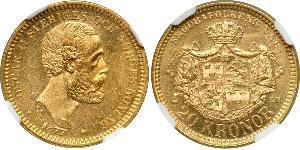 20 Krone Sweden Gold Oscar II of Sweden (1829-1907)