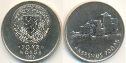 20 Krone Noruega Níquel/Cobre