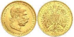 20 Krone Imperio austrohúngaro (1867-1918) Oro Franz Joseph I (1830 - 1916)
