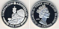 20 Krone Turks- und Caicosinseln Silber