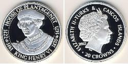20 Krone Turks and Caicos Islands Silver