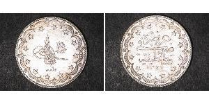 20 Kurush 奥斯曼帝国 (1299 - 1923) 銀 穆罕默德五世 (奥斯曼帝国)