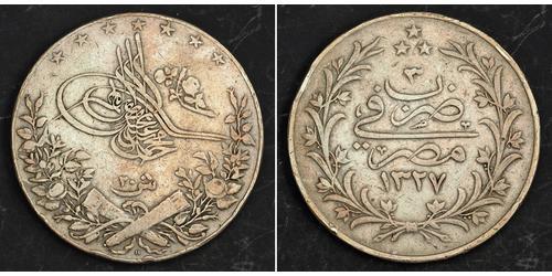 20 Kurush Imperio otomano (1299-1923) Plata