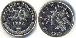 20 Lipa Croatia Steel/Nickel