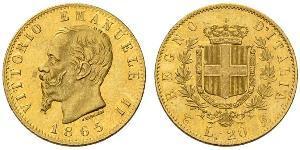 20 Lira 意大利王國 (1861-1946) 金 维托里奥·埃马努埃莱二世
