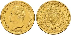 20 Lira Italy / Italian city-states Gold
