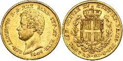 20 Lira Kingdom of Sardinia (1324 - 1861) / Italy Gold Charles Albert of Sardinia (1798 - 1849)