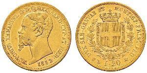 20 Lira Kingdom of Italy (1861-1946) Gold Victor Emmanuel II of Italy (1820 - 1878)