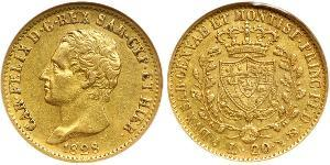 20 Lira Italie / Italian city-states Or