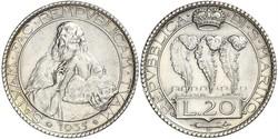 20 Lira San Marino Plata