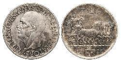 20 Lira Kingdom of Italy (1861-1946) Silber Viktor Emanuel III. (Italien) (1869 - 1947)